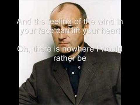 phil collins on my way with lyrics youtube