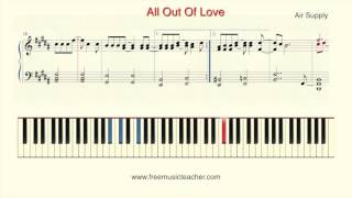 "How To Play Piano: Air Supply  ""All Out Of Love"""