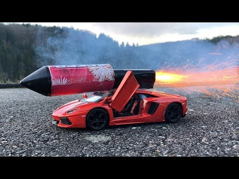 Rocket powered RC Lamborghini Toy Car !!
