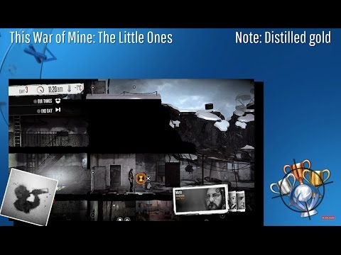 This War Of Mine: The Little Ones - Note: Distilled Gold - Trophy/Achievement (CZ)