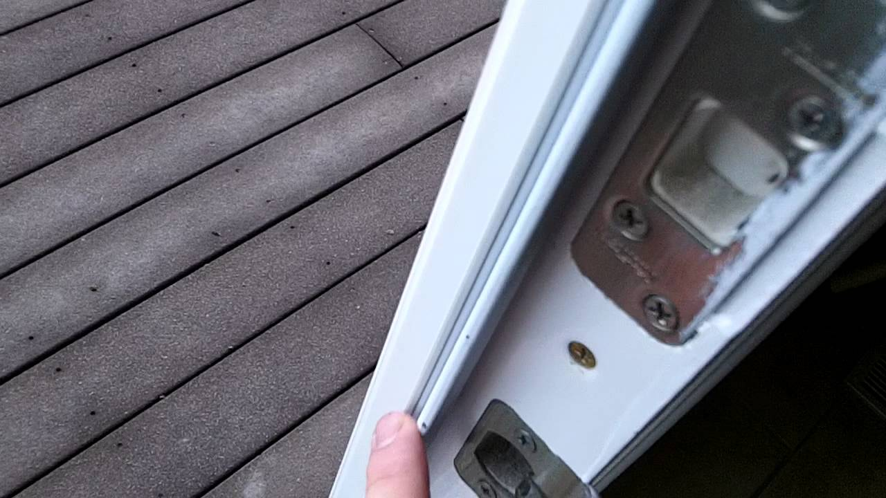 Kitchen Exterior door needs weather stripping - YouTube