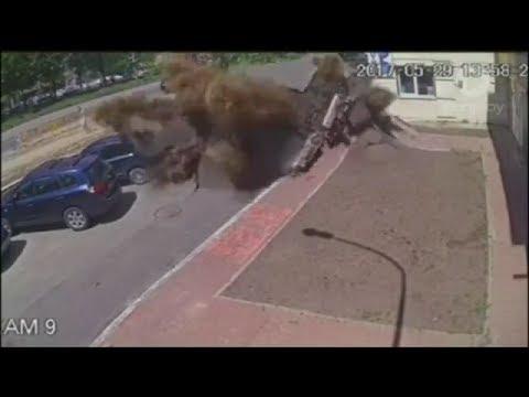 Water Main Explosion in Ukraine!