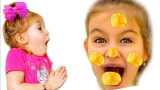 !!!! شفا و الشبس العجيب Open a packet of chips -بائع أحذية حلوة -Toys and Vickie