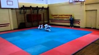 соревнование ТХЭКВОНДО лицей Петру Мовилэ спарринг 13