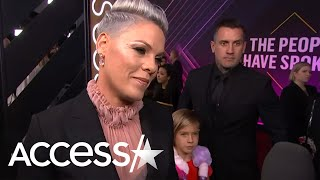 Pink's Adorable Kiddos Steal The Show On The People's Choice Awards Red Carpet