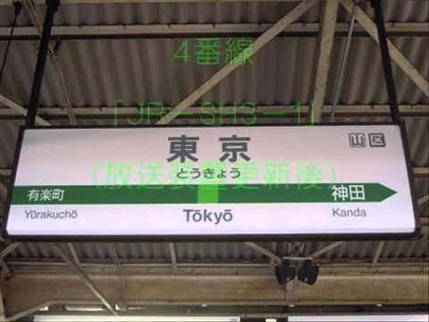 JR東京駅 発車メロディー(地上ホーム)