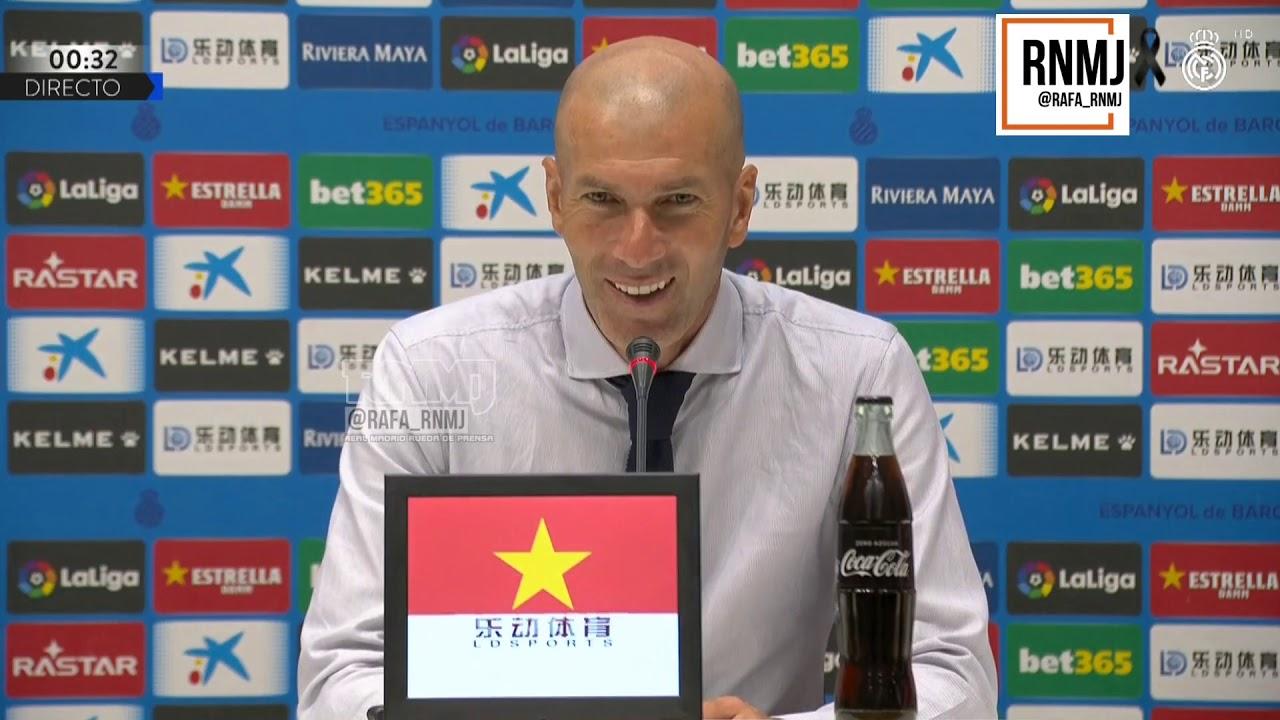 Rueda de prensa de ZIDANE post Espanyol 0-1 Real Madrid (28/06/2020)