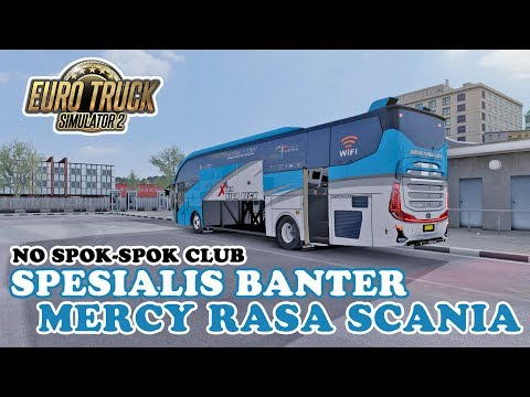 STJ Group Bus Banter, Anti Spok-Spok Club - ETS2 Mod Indonesia - 동영상