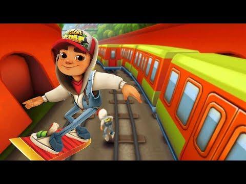Subway Surfers chạy lụm vàng đường ray xe lửa cu lỳ chơi game lồng tiếng vui nhộn funny ga