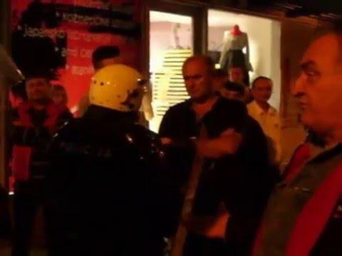 PROTESTI-Policija Krsi Ljudcka Prava - CRNA GORA Podgorica 17.10.2015