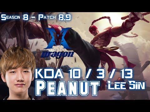 KZ Peanut LEE SIN vs KHA'ZIX Jungle - Patch 8.9 KR Ranked
