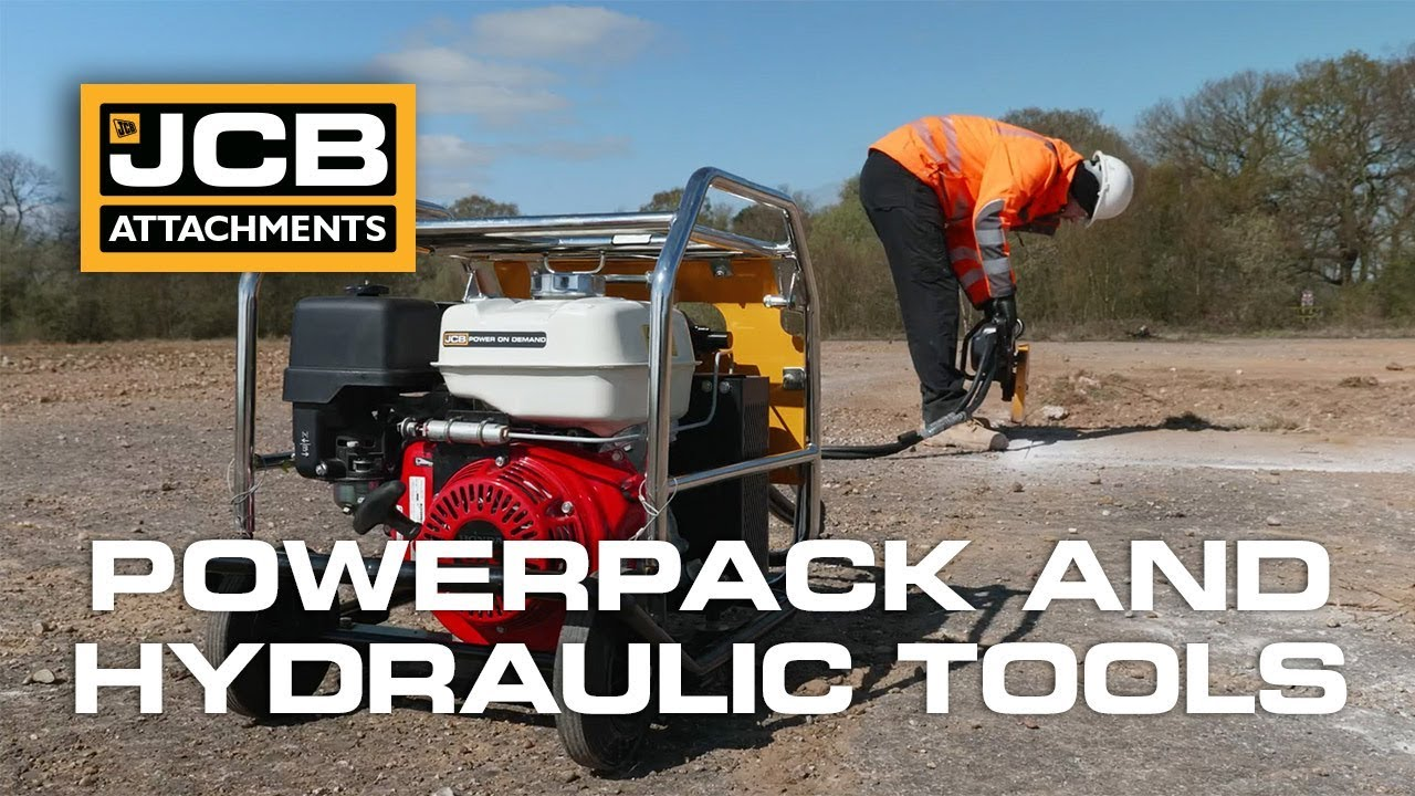 JCB Beaver Hydraulic Power Pack and HM25 Handheld Hydraulic Breaker