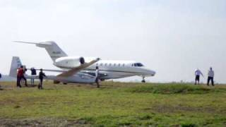 CITATION X DECOLANDO DE JUNDIAI SBJD NA RWY 18