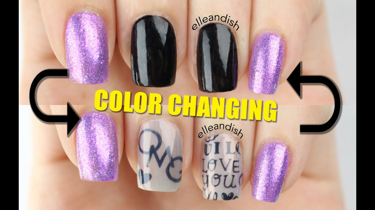 diy color changing secret message nails - youtube