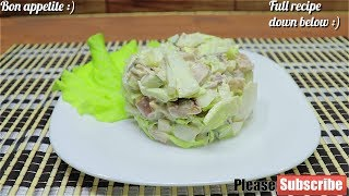 🥗Salad With Smoked Chiken And Chinese Cabbage | Easy Salad Recipe🥗