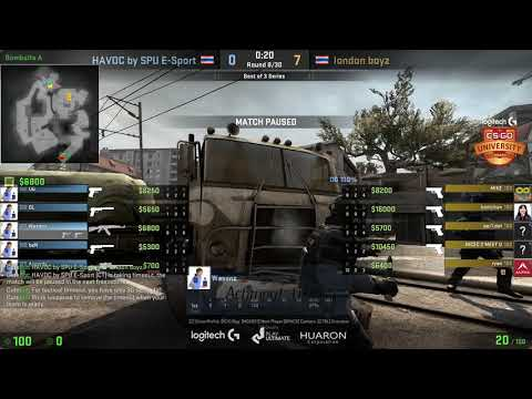 Logitech G CS:GO University Playoff รอบชิงสายบน : london boyz (RSU) vs HAVOC by SPU E-Sport (SPU)