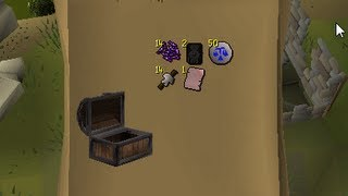 Loot from 10 hours of Hard clue scrolls (2007)