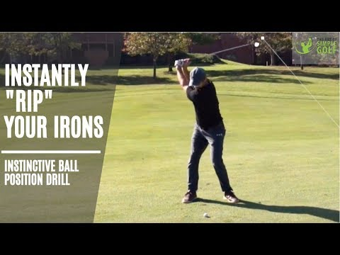 How To Strike Your Irons | Simple Golf Ball Striking Drill