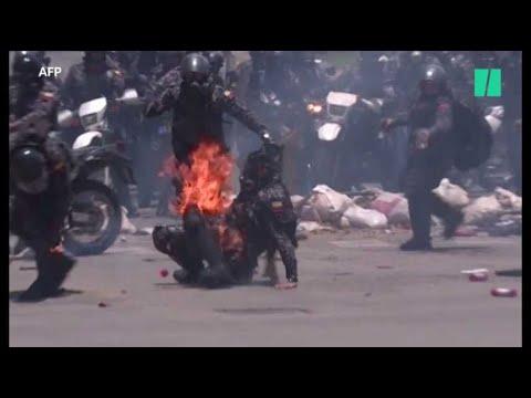 Nouvelle flambée de violences au Venezuela : les images des affrontements meurtriers