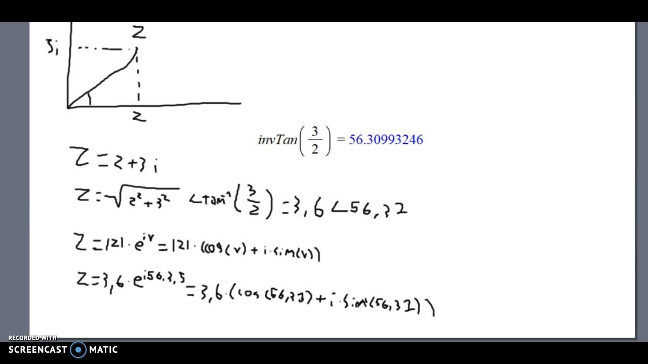Mat A: Komplekse tal: Eulers form 2