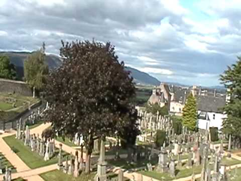 Stirling town Valley cemetery and Castle, Stirlingshire, Scotland