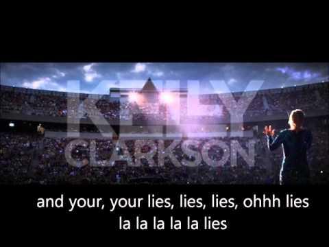 Kelly Clarkson  - Lies (Black Keys Cover) - Lyrics on Screen