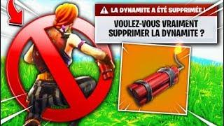"La Dynamite a déjà été ""BAN"" de FORTNITE ?! 😭"