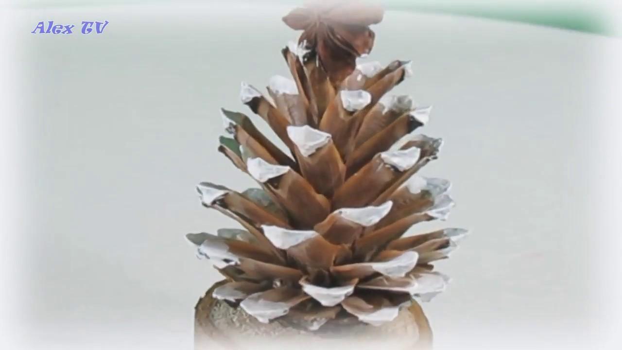 Dekoration Ideen Für Weihnachten Aus Naturmaterialien . Weihnachtsbaum Aus  Tannenzapfen Einfach