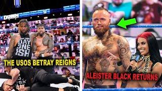 The Usos Shockingly Betray Roman Reigns Aleister Black Returns After Zelina Vega WWE News
