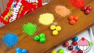 Repeat youtube video DIY SKITTLES Sprinkles - How To Make your own sprinkles using SKITTLES!