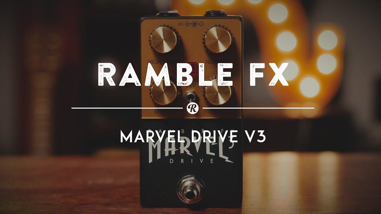 Ramble FX Marvel Drive V3 | Reverb Demo Video