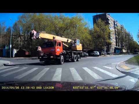 Лобненский экзаменационный маршрут  апрель 2014 часть 1