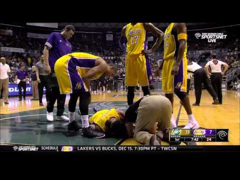 D'Angelo Russell injured: Los Angeles Lakers against Utah Jazz, preseason