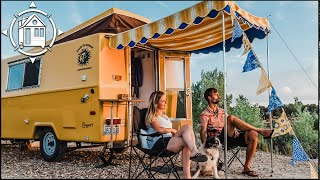 Our Vintage Camper Renovation Full Tour w/ So Many Ideas!⛺️