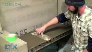 Tile Shower Bench Installation - How To Install Dix Systems Shower Bench