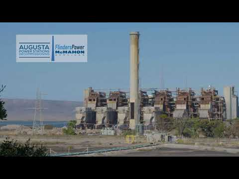 Playford B Power Station Stack Demolition - 25 Jan 2018