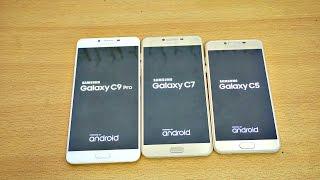 Samsung Galaxy C9 Pro vs C7 vs C5 - Speed Test! (4K)