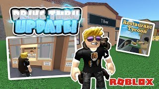 Restaurant Tycoon Roblox - DRIVE THRU UPDATE!! (100 robux giveaway)