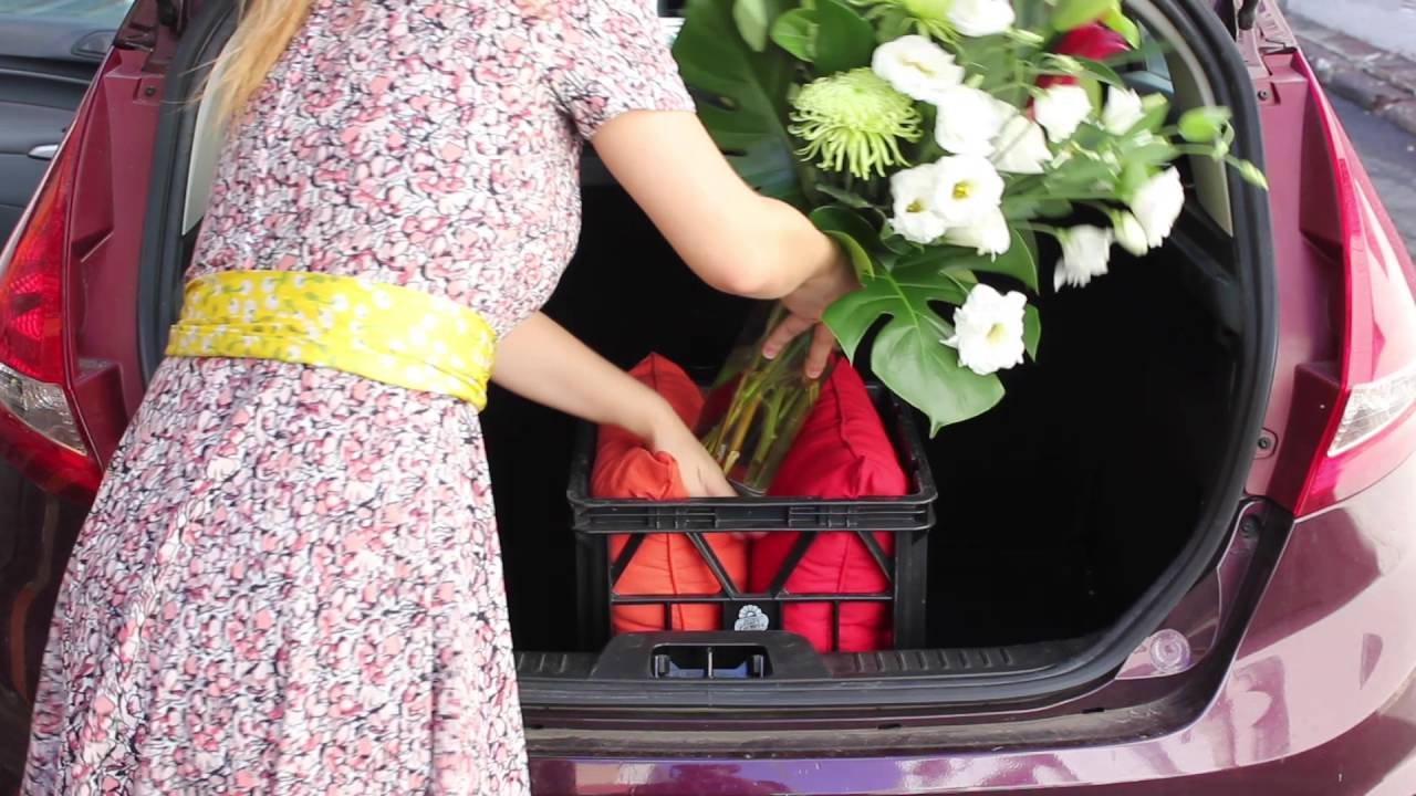 YouTube & How to safely transport a flower arrangement in a car