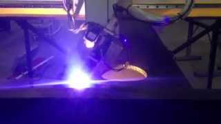 Testing the new 5 axis robotic plasma pipe cutting machine from ART