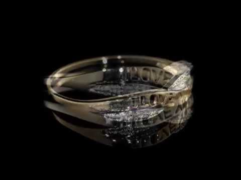 Diamond Promise Ring in 10K Yellow Gold