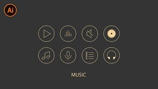 Music Vector Icons Speed Art + Download | Adobe Illustrator