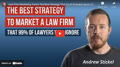 Law Firm Marketing: Here's The Best Strategy That You'll Probably Ignore (2019)
