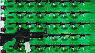 Plants Vs. Zombies Mod Gun Plants  M16