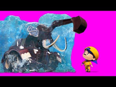 GIÁNG SINH: Jonny phát hiện ra một voi Ma-mút - hoạt hình dành cho trẻ em về xe tải và những con thú
