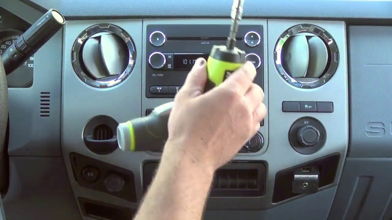 2009-2016 ford f250 f350 superduty factory gps navigation radio upgrade -  easy plug & play install! - youtube