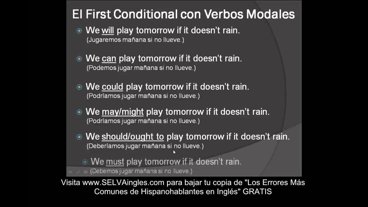 Ejemplos First Conditional Primer Condicional