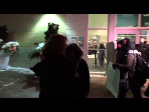 """Bill Cosby Is A Rapist"" Protest in London, Ontario"