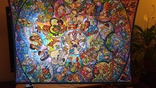 Disney Stained Glass 1000 pc puzzle