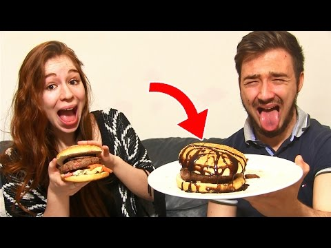 HAMBURGER XXL CHALLENGE en COUPLE  Un BURGER POURRI A LA MORUE